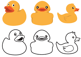 rubber duck outline free coloring pages on art coloring pages