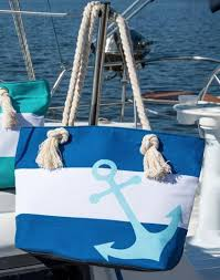 nautical tote personalized nautical tote bags