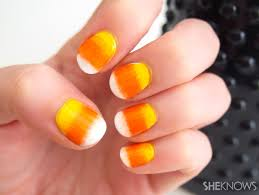 easy corn gradient nails