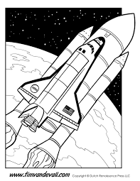 space shuttle coloring page tim u0027s printables