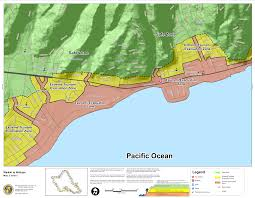 map of waikiki hawaii state tsunami evacuation maps