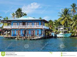 Stilt House Plans Beautiful Tropical House On Stilts In The Caribbean Stock