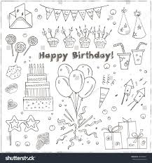 many stock birthday party invitation card vector creation birthday party doodles elements background vector stock vector