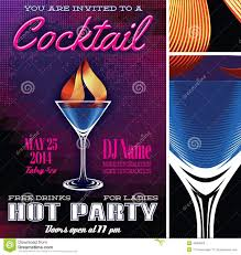 poster template for the cocktail party stock vector image 40865903