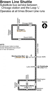 L Chicago Map by Brown Line Chicago Map Chicago Brown Line Map United States Of