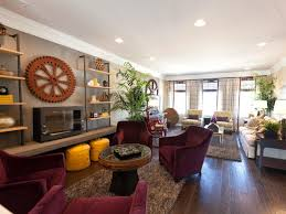 furniture placement in living room with fireplace and tv