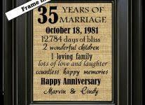 35 wedding anniversary 35 years wedding anniversary gift gift ideas bethmaru