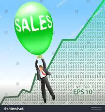 Advertising Sales Manager Happy Sales Manager Floats On Big Stock Vector 84198895 Shutterstock