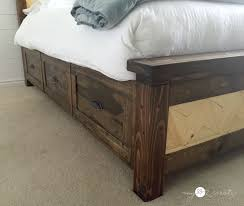 Bed Frame Drawers Farmhouse Storage Bed My 2 Create