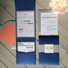 Wedding Invitations With Pockets The 25 Best Coral Wedding Invitations Ideas On Pinterest Coral