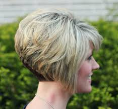 short hairstyles short stacked hairstyles for thin stacked