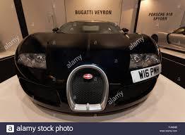 bugatti classic wide angle front view of a bugatti veyron in the