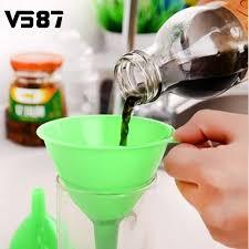 entonnoir cuisine 3 pcs ensemble en plastique filtre entonnoir cuisine lab mazout