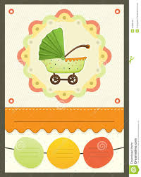 Card Shower Invitation Baby Shower Stroller Invitation Card Royalty Free Stock Images
