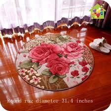 Flower Area Rug Diaidi Vintage Floral Carpet Three Dimensional Cut Flower