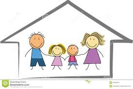 home drawing child kids drawing of a house or home stock image image 7841871