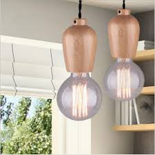 Shade Pendant Light Winsoon Modern Vintage Industrial Hanging Ceiling L Wood Shade