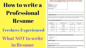 what to write in resume how to write a perfect resume tips for freshers experienced how to write a perfect resume tips for freshers experienced what not to write in resume