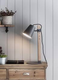stockholm table light in charcoal oak garden trading
