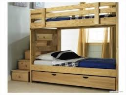 Solid Wood Bunk Beds With Storage Solid Wood Bunk Beds With Stairs Foter