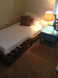 Bed Frame Made From Pallets Pallet Addicted 30 Bed Frames Made Of Recycled Pallets