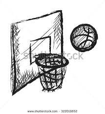 doodle basketball icon vector stock vector 322018652 shutterstock