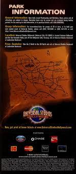 theme park brochures universal studios theme park