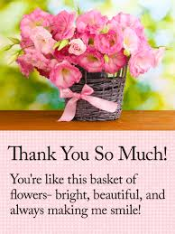 thank you flowers you are like flowers thank you card birthday greeting cards