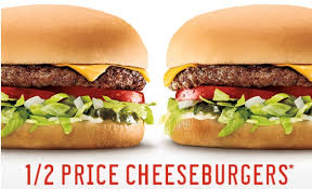 half price restaurant sonic drive in will half price cheeseburgers tomorrow 4 18