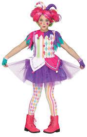 children s costumes halloween rainbow harlequin girls fancy dress carnival teens jester kids