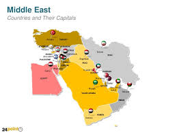 middle east map ppt middle east countries powerpoint map