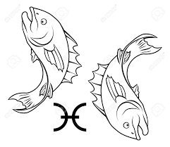 illustration of pisces the fish zodiac horoscope astrology sign