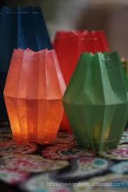 How To Make Paper Light Lanterns - paper bag lanterns paper lanterns paper bag lanterns and