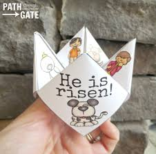 printable easter finger puzzle with bible verses perfect for