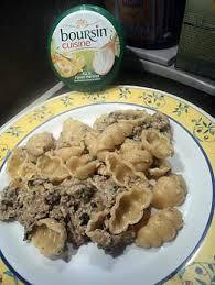 boursin cuisine recettes recette de pate au boursin ail et herbe avec epinard et hachée