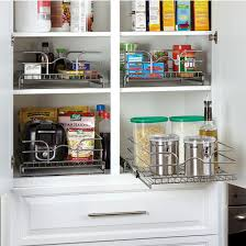 Storage Baskets Kitchen Cabinet Chrome PullOut Wire Baskets W - Single kitchen cabinet