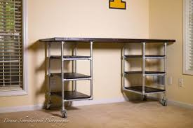 Diy Desk Pipe Idea Pipe Furniture Diy Diy Crate And Industrial Table