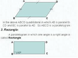 types of quadrilaterals grade 7 mathematics kwiznet math