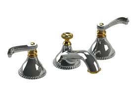 Gold Bathroom Faucets Etruscan Chrome With Gold Bathroom Faucet By Rubinet Bathroom