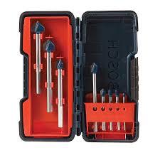 bosch gt3000 glass and tile set 8 piece jobber drill bits