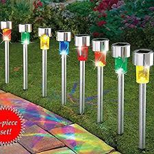 decorative outdoor solar lights amazon com sogrand solar lights outdoor pathway decorative