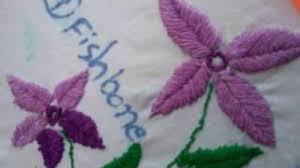Fish Bone Stitch Embroidery Tutorials Skills Viyoutube