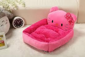 Rabbit Beds Cute Cama Pet Pink Hello Kitty Princess Dog Beds For Cat Rabbit