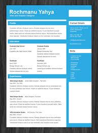 11 psd one page resume templates designbump