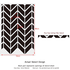 amazon com j boutique stencils wall large herringbone shuffle