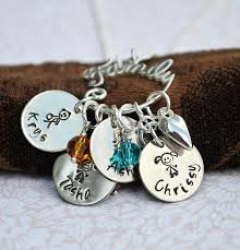personalized necklace charms personalized family charm holder loveitpersonalized
