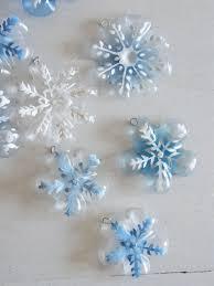 diy snowflake ornaments from plastic bottles beesdiy
