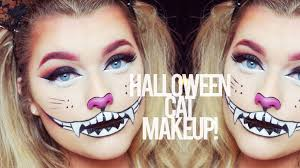 halloween cat make up tutorial rachel leary youtube