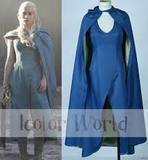 khaleesi costume hot sale of thrones daenerys targaryen khaleesi blue dress