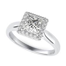 princess cut engagement rings with halo wedding rings jared galleria diamonds jared gemstones